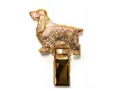 Bekleidung & AccessoiresSchals für TierfreundeHunderassen-Ringclip 24k Vergoldet: Cocker Spaniel
