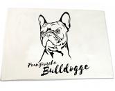 Aufkleber & TafelnHandtuch: Französische Bulldogge 50 x 100 cm