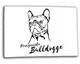 Schenken & ZubehörKleinigkeiten die Freude machenHunde Glas Schneidebrett Französische Bulldogge 20 x 28 cm