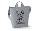Canvas Shopper: Französische Bulldogge