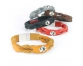 Für TiereStoßstangenschutzHundefan ECHT LEDER Armband mit Pfote