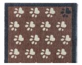 Tierische FußmattenPREMIUM Hunde Fußmatte Läufer Küchenmatte: Pfoten klein - 50 x 150 cm braun