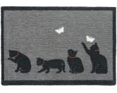 Tierische FußmattenPREMIUM Katzen Fußmatte: Fangen - 50 x 75 cm dunkelgrau