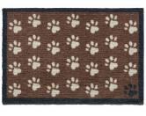 Tierische FußmattenPREMIUM Hunde Fußmatte: Pfoten - 50 x 75 cm braun