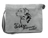Hunderasse Fan KollektionLabrador Fan KollektionCanvas Messenger Tasche: Golden Retriever