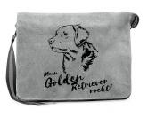 Für Menschen% SALE %Canvas Messenger Tasche: Golden Retriever