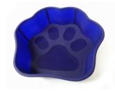 Wasser- & Futternäpfe für Hunde & KatzenHunde Pfoten Silikon Backform -L- blau 1000 ml