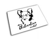 NeuheitenHunde Glas Schneidebrett Chihuahua 20 x 28 cm