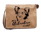 Aufkleber & TafelnCanvas Messenger Tasche: Chihuahua