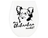 NeuheitenKlodeckel WC Aufkleber: Chihuahua
