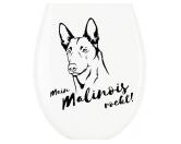 NeuheitenKlodeckel WC Aufkleber: Belgischer Schäferhund