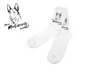 NeuheitenHunde Motiv Socken Belgischer Schäferhund