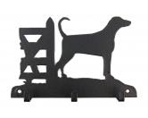 Bekleidung & AccessoiresHundesportwesten mit Hundemotiven inkl. Rückentasche MIL-TEC ®Dobermann Leinengarderobe - Schlüsselbrett
