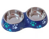 Wasser- & Futternäpfe für Hunde & Katzenlief! Boys Hunde Doppel Napf -Pfote-
