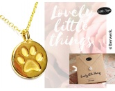Für TiereLeckerlies & HundekekseSilberwerk LITTLE SIGNS Kette Pfote -Gold-