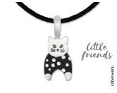Für MenschenNostalgische GeschenkartikelSilberwerk LITTLE FRIENDS Katze schwarz-weiss