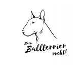 RucksäckeCanvas Rucksack HunderassenWandtattoo -Bullterrier-