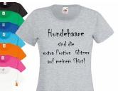 Fan-Shirts für HundefreundeHundespruch T-Shirt:Hundehaare sind Glitzer