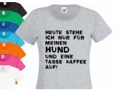 Briefkarten & BriefpapierHunderassen WeihnachtskartenHundespruch T-Shirt: Aufstehen