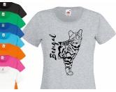 NeuheitenKatzenrasse Damen T-Shirt: Bengal