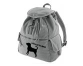 Canvas Rucksack Hunderasse: Puggle