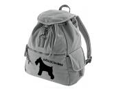 Canvas Rucksack Hunderasse: Schnauzer stehend