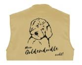 MarkenMil-Tec Hundesport Outdoor-Weste mit Dummytasche: Goldendoodle
