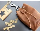 WohnenTierische FußmattenGilde Leder Futterbeutel