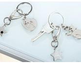 SchnäppchenGilde Metall Schlüsselanhänger: Katze