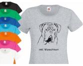 Hunderassen T-ShirtsHunderassen-T-Shirts: Bordeaux Dogge 2 EINZELSTÜCK