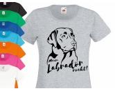 SchnäppchenHunderasse Damen T-Shirt: Labrador EINZELSTÜCK