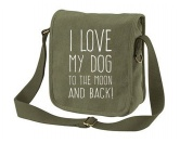 NeuheitenCanvas Tasche: I love my dog to the moon an back