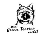 Für MenschenAuto-SonnenschutzHunderasse Aufkleber: Cairn Terrier
