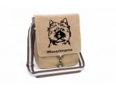 Hunderassen KollektionenCairn Terrier Fan KollektionCairn Terrier Canvas Schultertasche Tasche mit Hundemotiv und Namen