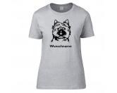 Für MenschenAuto-SonnenschutzCairn Terrier - Hunderasse Damen T-Shirt