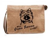 Für Menschen% SALE %Canvas Messenger Tasche: Cairn Terrier