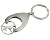 MarkenBluebug Schlüsselanhänger mit Einkaufswagen-Chip: Hund