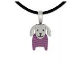 Für TiereDummies & ApportierhilfenSilberwerk LITTLE FRIENDS Hund -lila-