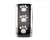 Für TiereLeckerlies & HundekekseEnergy & Life: Hunde Pfötchen Magnet-Schmuck-Anhänger -schwarz-