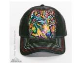 Für TiereKühlartikel für HundeThe Mountain Cap: Happy Wolf - Schwarz