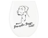 Für TiereHundemotiv - HandtücherWC Aufkleber: Dänische Dogge