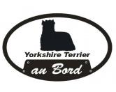 Leben & WohnenFußmatten & LäuferAn Bord - Aufkleber: Yorkshire Terrier