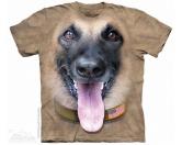 Für Menschen% SALE %The Mountain T-Shirt - Schäferhund Big Face Belgian Malinois