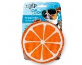 Spielzeuge für HundeChill Out - Orange Flyer Hundespielzeug mit Schwamm