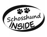 SchnäppchenAuto Aufkleber Inside: Schosshund