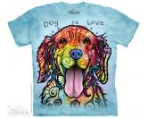 The Mountain Shirt Golden Retriever - Dog is love Einzelstück
