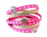 The Mountain FaceThe Mountain-Shirts HundeHundefan Wickelarmband Strass mit 4 Pfoten - pink