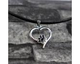 Für MenschenNostalgische GeschenkartikelHundefan Kette mit Pfotenanhänger -Herz-