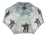 Für MenschenWeihnachtsmarktMops & Französische Bulldogge - Regenschirm