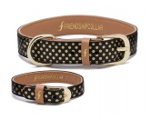 Friendship-Collar: Dotty Partnerlook-Set schwarz/gold